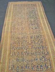 Two Hamadan long rugs, ca. 1910, 15'5