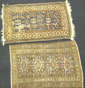 Shirvan mat, ca. 1900, 4'2