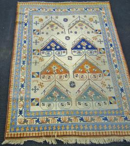 Roomsize Kurdish rug, ca. 1960, 9'9