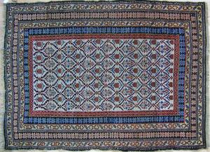 Melas throw rug, ca. 1910, with repeating design o