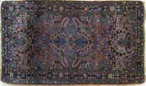 Sarouk mat, ca. 1930, with overall floral decorati