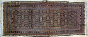 Hamadan long rug, ca. 1920, with boteh design andu