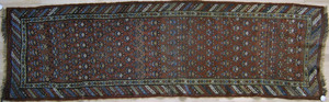 Afghan runner, ca. 1910, with repeating design on