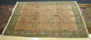 Qom roomsize carpet with all over floral design, 1