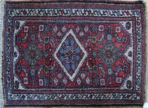 Caucasian runner, together with 2 mats.