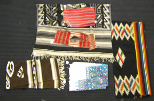 Mexican and South American weavings to include a r