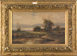 L. Fuger(19th c.), pair of oil on canvas landscape