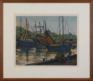 Harry Shokler(American, 1896-1978), silkscreen tit