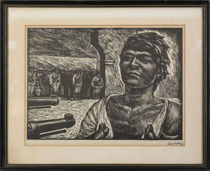 Leopoldo Mendez(Mexican, 1903-1969), woodblock tit