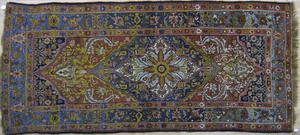 Bidjar long rug, early 20th c., with central medal