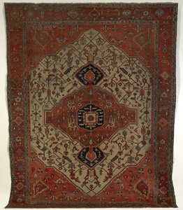 Roomsize Heriz rug, ca. 1900, with central medalli