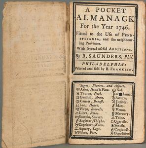 Rare Benjamin Franklin Pocket Almanac For the Year 1746