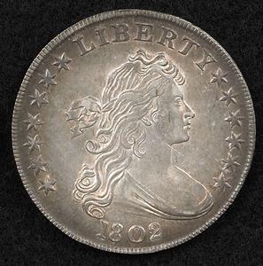 1802 U.S. silver dollar.