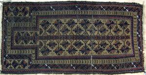 Baluch throw rug, ca. 1910., 5'10