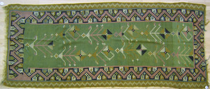 Semi-antique Kilim long rug, 10' x 4'1