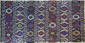 Kilim throw rug, early 20th c., 9'8
