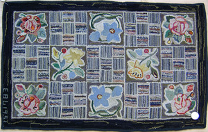 Four floral hooked rugs, early/mid 20th c., togeth