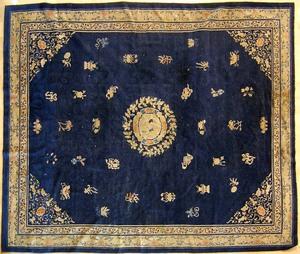 Roomsize Chinese rug, ca. 1920, 8'6