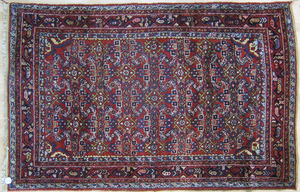 Three Sarouk throw rugs, early/mid 20th c.