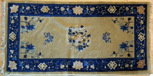 Three semi-antique Chinese mats, 5'10