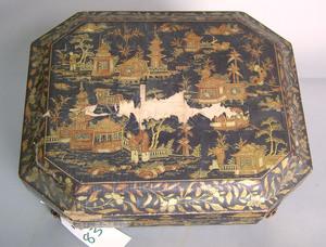Japanese lacquerware game box, 19th c., 5