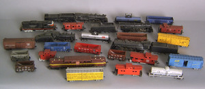 Group of Bachman toy trains.