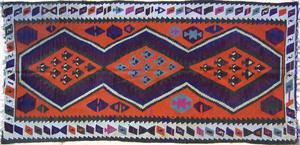 Semi antique Kilim throw rug, 8'3