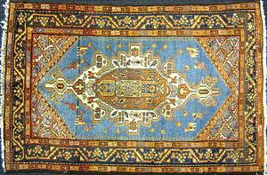 Kurdish mat, ca. 1930, 4'4
