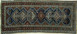 Hamadan throw rug, ca. 1920, 7'9