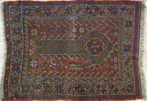 Kazak mat, ca. 1915, 3'10