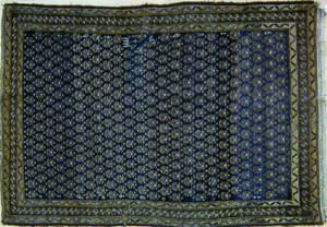 Two oriental throw rugs, ca. 1920, 5'6