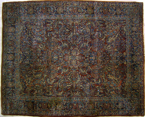 Roomsize Sarouk, ca. 1920, with overall floral pat