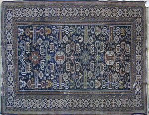 Shirvan throw rug, ca. 1900, with perepedil design
