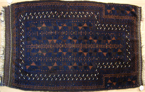 Three oriental prayer rugs, ca. 1910, largest - 4'