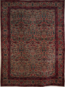 Roomsize Kirman, ca. 1915, with overall floral des