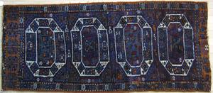 Sparta throw rug, ca. 1930, with 4 medallions on a