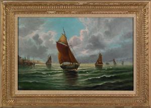 Edward Moran(American, 1829-1901), oil on canvas c