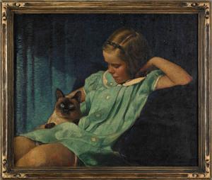 Vivian Milner Akers(American, 1886-1966), oil on c