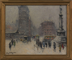 Guy Carleton Wiggins(American, 1883-1962), oil ono