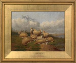 Thomas Sidney Cooper(British, 1803-1902), oil on c