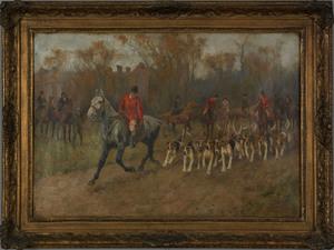 Arthur Wardle(British, 1864-1949), oil on canvas h
