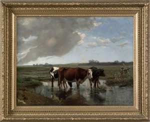 L. Victor(late 19th c.), oil on canvas landscape w
