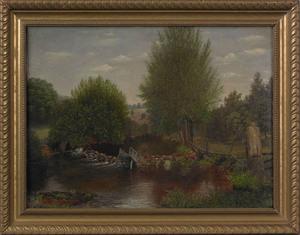 George Cope(American, 1855-1929), oil on canvas la
