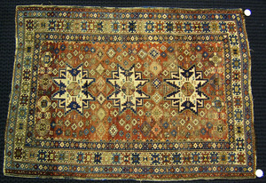 Lesghi star Shirvan rug, ca. 1910, together with a