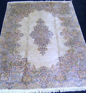 Semi-antique roomsize Kirman rug, 12' x 8'8