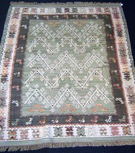 Roomsize Moroccan rug, ca. 1960, 10'6