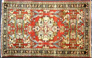 Semi-antique Hamadan mat, 2'8