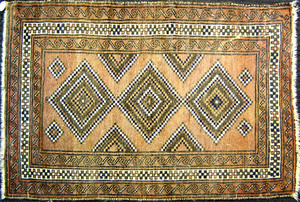 Turkoman mat, ca. 1940, 4'9