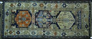 Oriental throw rug, ca. 1930, 8'6
