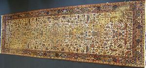 Heriz long rug, ca. 1960, 16' x 6'4